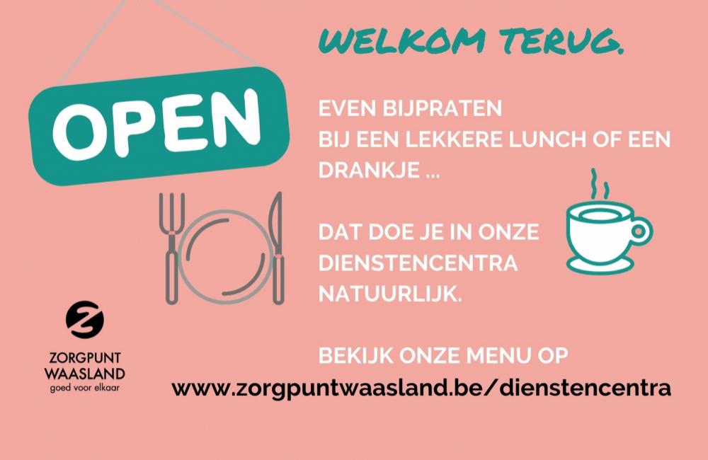 Vanaf 14 juni: dienstencentra open voor lunch