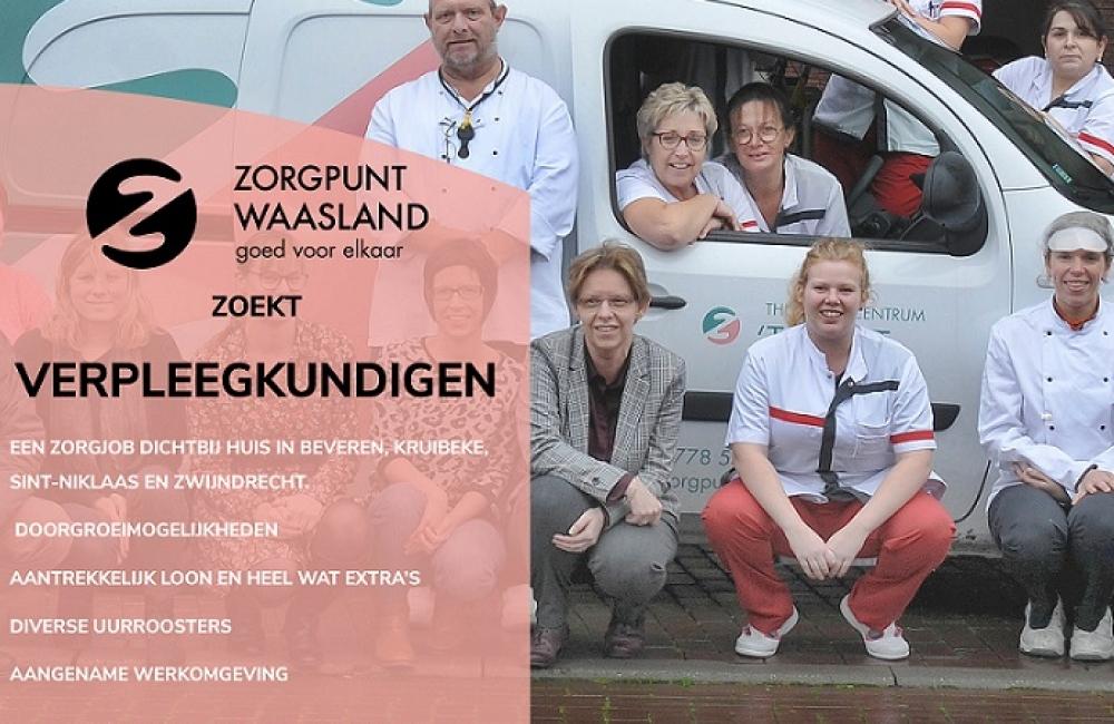 Zorgpunt Waasland zoekt nog verpleegkundigen