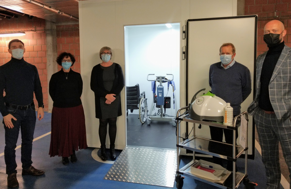 Eerste woonzorgcentrum met ontsmettingsunit